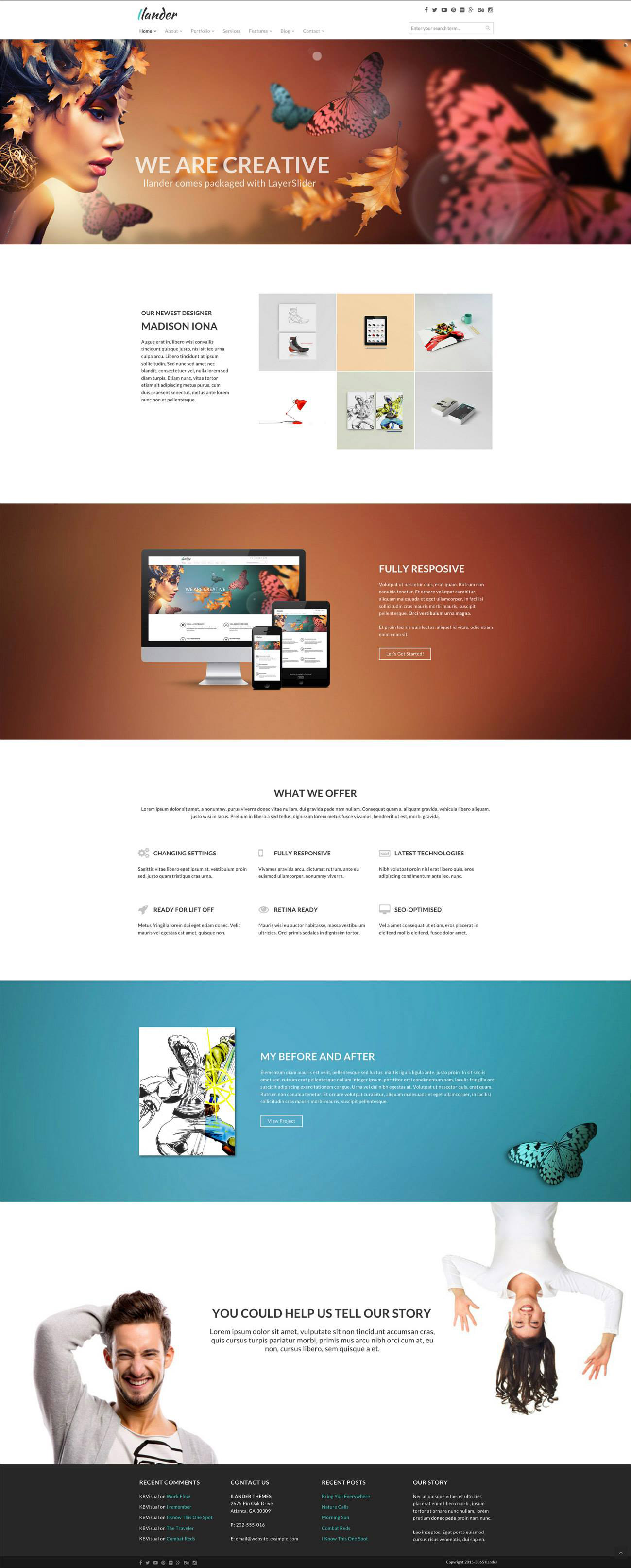 kyler boone portfolio ilander at the same time i wanted to give ilander the ability to work independently from the plugins as well i wanted the homepage to highlight features of theme